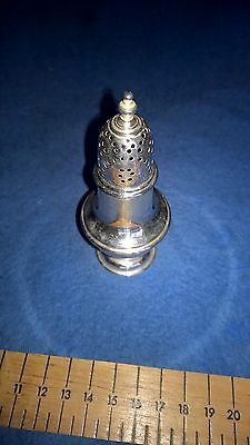 Solid silver hall marked pepper pot