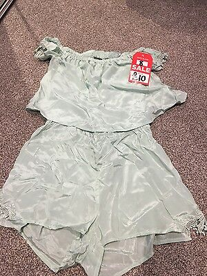 Ladies mint green playsuit River Island size 8