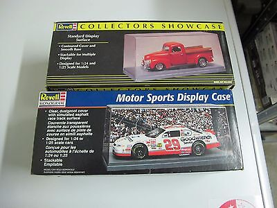 2x Revell 1/24-1/25 Car model display cases, used, some wear & scratches