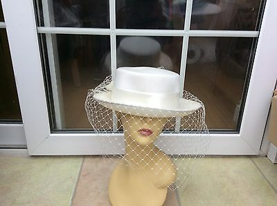 Ladies Vintage Cream Hat For Weddings/races/special Occasions,v.good Cond,bhs
