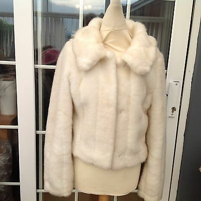 Ladies Mink Faux Fur Coat Size 12 Good Condition Very Classy,lined,by Pilot