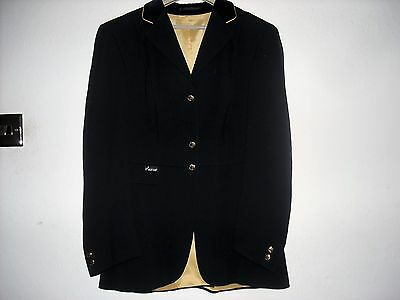Ladies Navy Bluewith gold trim  Pikeur Wool Show Jacket Size 12