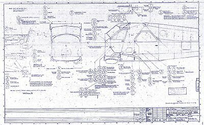 DHC-2 Beaver Blueprint Plans RARE detail from original period factory drawings