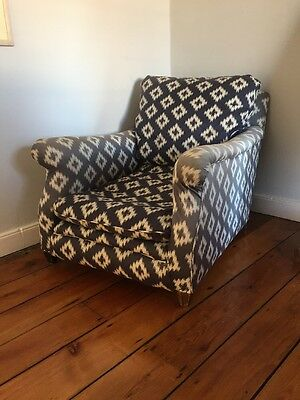 Beautiful Comfy Antique Victorian Armchair John Lewis Fabric