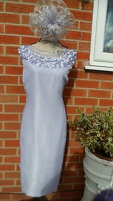 Jacques Vert Size 20 Special Occasion Dress & Fascinator. (NEW)