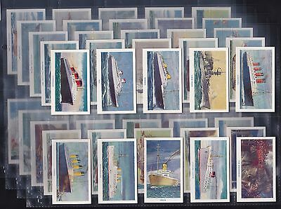 "R & J Hill Ltd., Famous Ships (Matt) Series Of 50 (1940) ""titanic"" Exc/mint."
