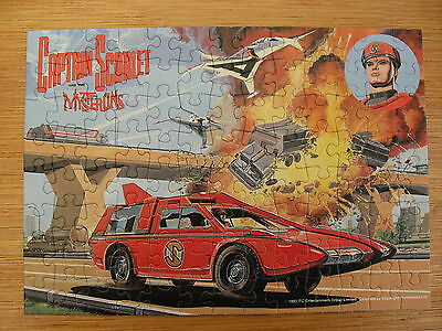 Vintage Captain Scarlet And The Mysterons Jigsaw Puzzle 104 Pieces King 1993 Vgc