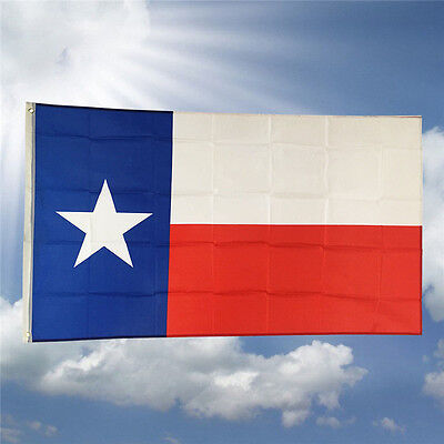 New 3' x 5' Polyester TEXAS STATE FLAG Lone Star USA Grommets Red White Blue