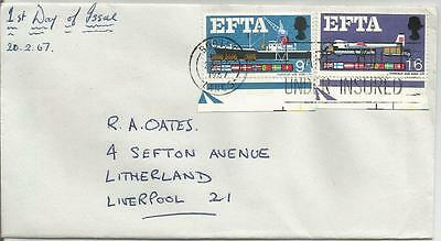 1967 Efta First Day Cover Ref 545