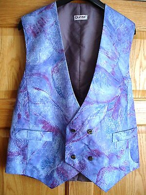 Qui-Vive Double Breasted Floral Waistcoat Sz L