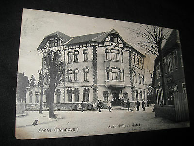 AK Zeven Aug. Müller's Hotel 1908