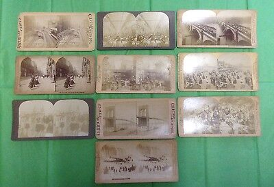 Collection job lot of 10 stereoview photographs.
