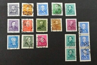 Hungary stamps 1932/1937 selection