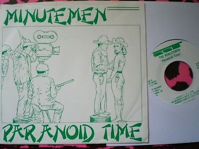 Punk - Minute Men - Paranoid Time Ep - Picture Cover