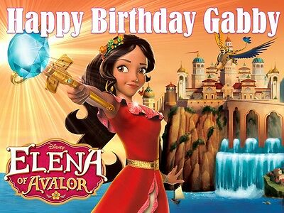 Disney Elena of Avalor A4 Edible Cake Topper Wafer Card/Icing Personalised