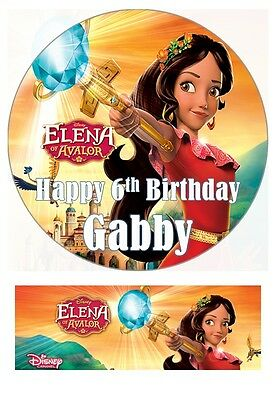 Disney Elena of Avalor Cake toppers decoration edible 7 Inch or cupcakes Precut