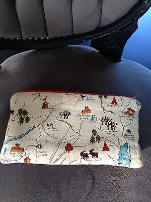 """Super Chouette Trousse """"Vintage Canada Map""""By Mange Ta Soupe Hand Made"""