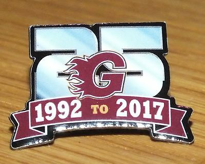 Guildford Flames 25th Anniversary Pin Badge **NEW** Ice Hockey Club