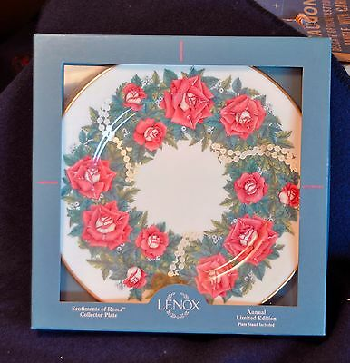 Lenox Sentiments Of Roses Collection, 1997, Love, New In Box w/ COA, Plate #A221