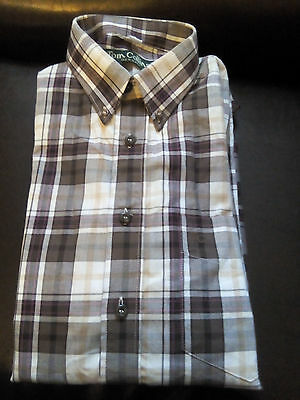 Tom Collins Germany Chemise Manches Longues grands Carreaux M 39/40 Chasse Pêche