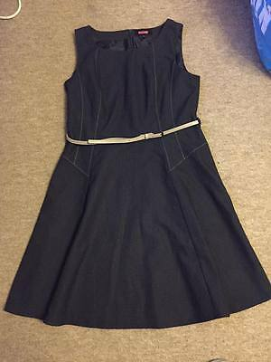 Womens Size 16 Blue Smart Work Dress From Next - Excellent Condition