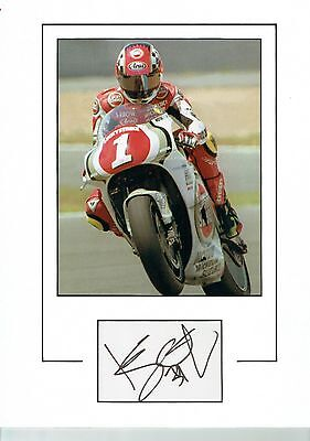 KEVIN SCHWANTZ signed autograph 16 x 12 Mounted Photo, World Superbikes & COA