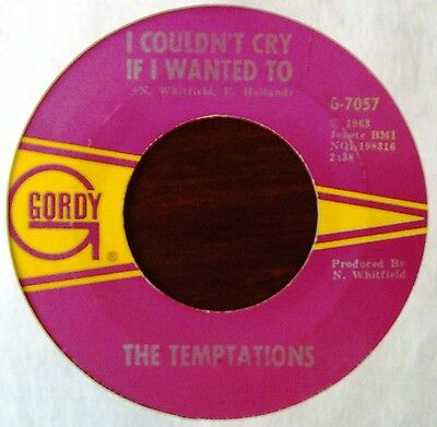TEMPTATIONS - I couldn't cry if I wanted to / (I know) I'm losing you - GORDY