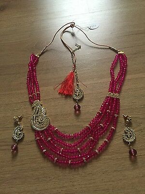 Brand new diamonte indian Bollywood costume wedding jewellery set