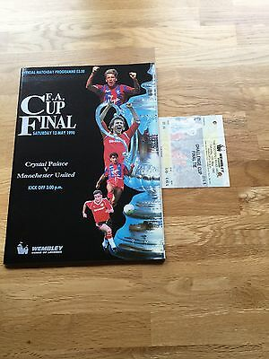 1990 Fa Cup Final Manchester United V Crystal Palace + Ticket