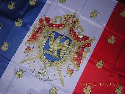 100% NEW Reproduced Royal Standard of Napoleon III France Flag Ensign, 3ftX5ft,