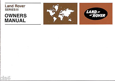 Land Rover Series 3 Official Owners Manual / Handbook 1971-78 *NEW