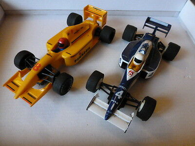 Two Scalextric Formula 1 Racing Cars