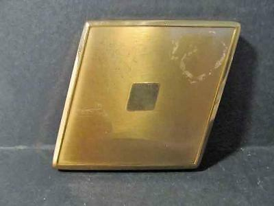 Vintage Powder Compact Vanity Goldtone Perfect for New Collector Unique Shape