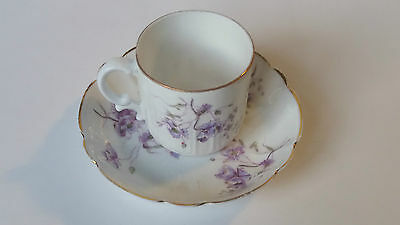 Russian Imperial Porcelain: F.gardner Demitasse Cup And Saucer.