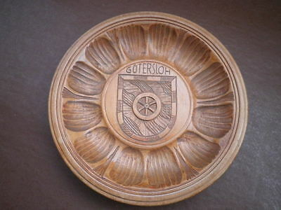 """Vintage / Collectable - """"wooden Carved Plaque"""" - """"gutersloh 1946"""" - """"polish"""""""