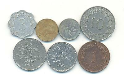 Very Nice Rare.mixed Lot Of Malta Coins.very Collectable.b.161