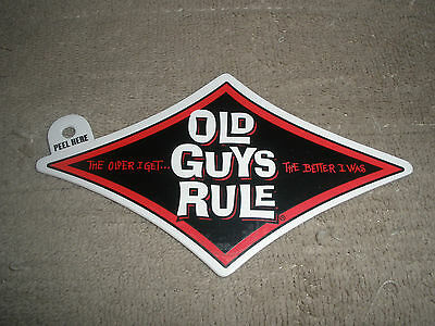 """Old Guys Rule """" The Older I Get..better I Was """" Red Diamond Beach Decal Sticker"""