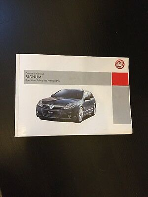 Vauxhall Signum Owners Manual