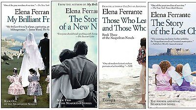 The Neapolitan Novels By Elena Ferrante -All 4 In Absolutely Wonderful Condition