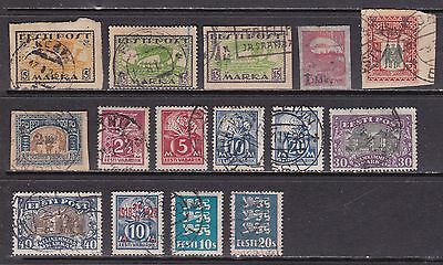 Estonia Early Mainly Used Lot Cat £24