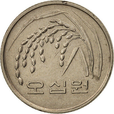 [#79860] KOREA-SOUTH, 50 Won, 1990, AU(50-53), Copper-Nickel-Zinc, KM:34