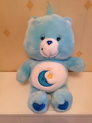 Blue Care Bear Moon Soft Toy Comforter Plush 2002 Collectable