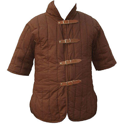 Padded Gambeson, Brown, Chest Armour, Steampunk, Medieval, Cosplay, LARP