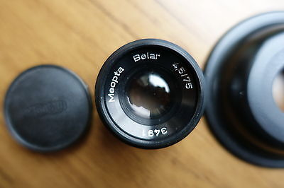 Mounted Meopta Belar F4.5 75mm Enlarging Lens