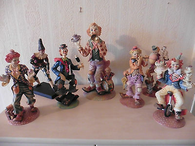 Collection of Clown Figurines, Statues, Figures, Ornaments