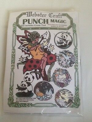 Webster Craft Punch Needle Embroidery Flower Fairy Kit with yarns