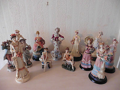 Collection of Victorian Style Figurines, Statues, Figures, Ornaments