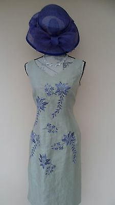 Jacques Vert Size 14 Dress with matching Hat