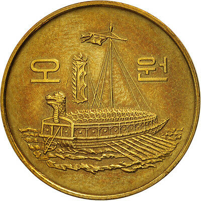 [#79879] KOREA-SOUTH, 5 Won, 1983, AU(50-53), Brass, KM:32