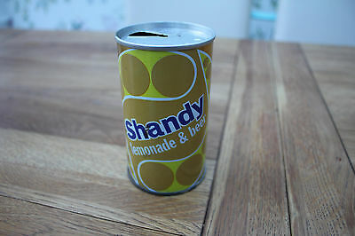 RARE Vintage TIZER SHANDY Lemonade & Beer Steel can 1973 Collectable 1970's
